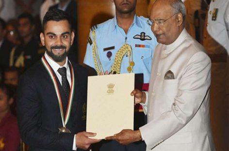 विराट कोहली व मीराबाई चानू को मिला खेल का सर्वोच्च 'राजीव गांधी खेल रत्न सम्मान'
